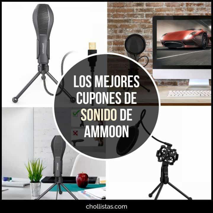 ºChollazo Trípode para micrófono con filtro y micrófono de condensador ammoon (50% Cupón Descuento)