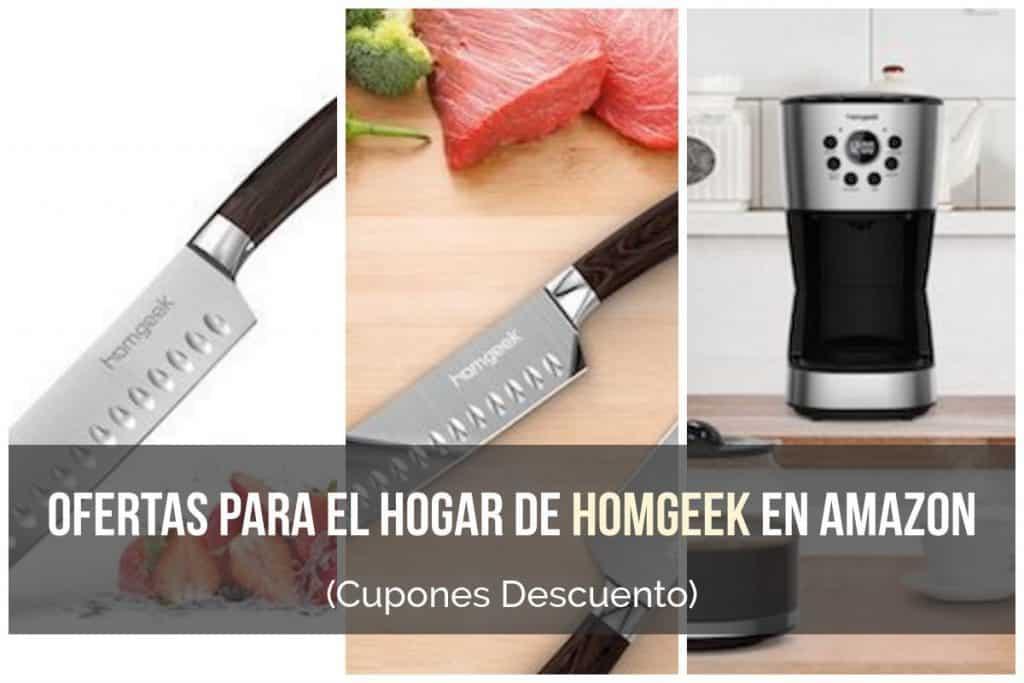 Ofertas para el hogar de Homgeek en Amazon (Cupón Descuento)