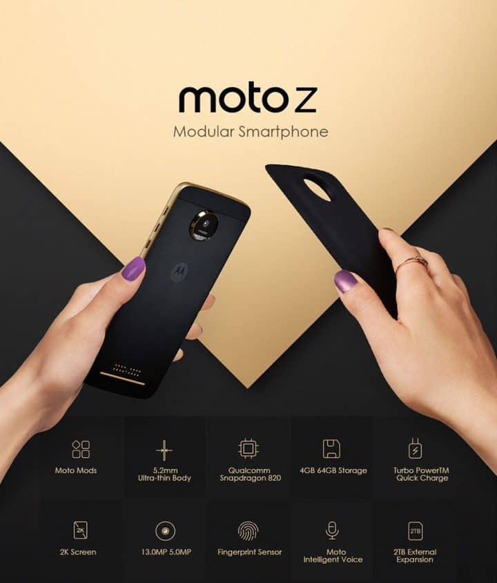 Chollo Lenovo Moto Z 64GB por 175 euros (Oferta FLASH)