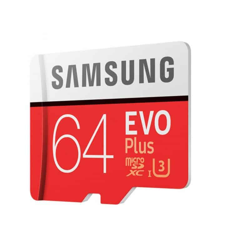 Oferta MicroSD Samsung EVO PLUS clase 10 64GB por 14 euros (Oferta FLASH)