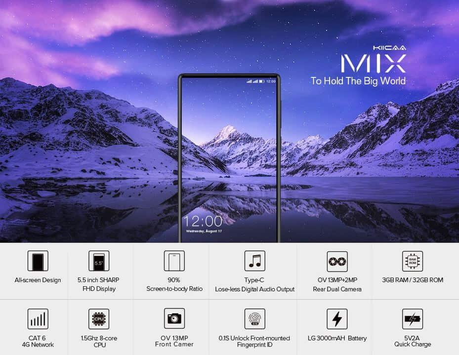 Chollo smartphone Leagoo Kiicaa MIX por 93 euros (Oferta de lanzamiento)
