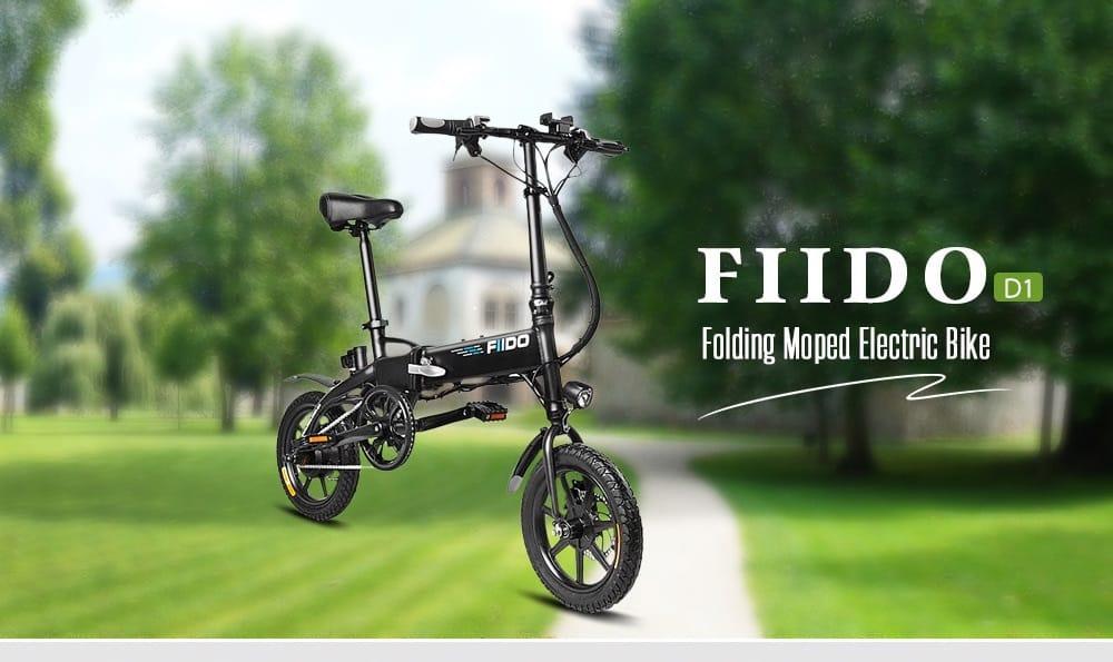 Bicicleta eléctrica plegable FIIDO D1 comprar barato al precio minimo de oferta con cupón descuento. Con envío GRATIS Libre de aduanas para España.