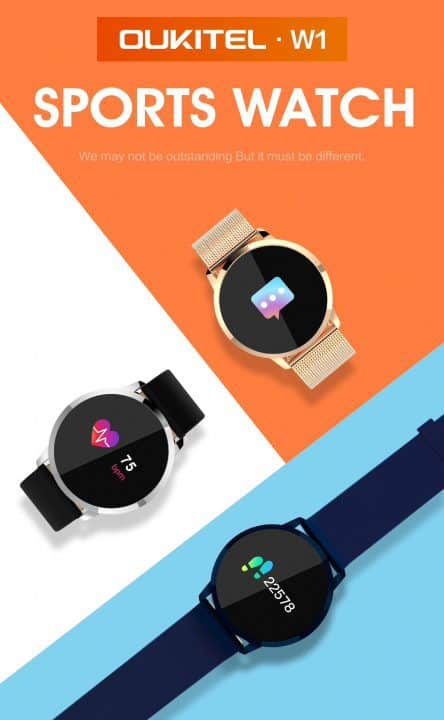 Oferta reloj inteligente OUKITEL W1 por 22 euros (Cupón Descuento)
