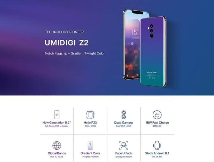 NOVEDAD: Oferta smartphone UMIDIGI Z2 por 213 euros (Oferta FLASH)