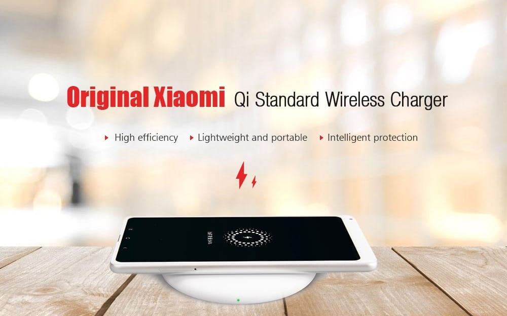 Oferta cargador inalámbrico Qi Xiaomi por 22 euros (Cupón Descuento)