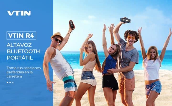 Oferta Altavoz bluetooth Vtin R4 24 horas por 12,99 euros (Cupón Descuento)