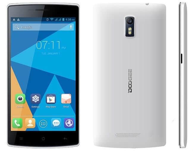 Doogee-DG580 teléfono móvil Android con pantalla de 5,5 pulgadas po r92 euros, 23% de descuento