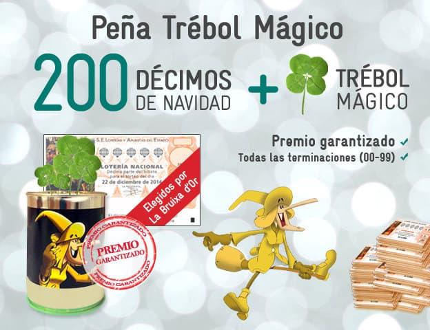 200 décimos de la Lotería de Navidad y el Trébol de la Suerte por sólo 59,99 euros