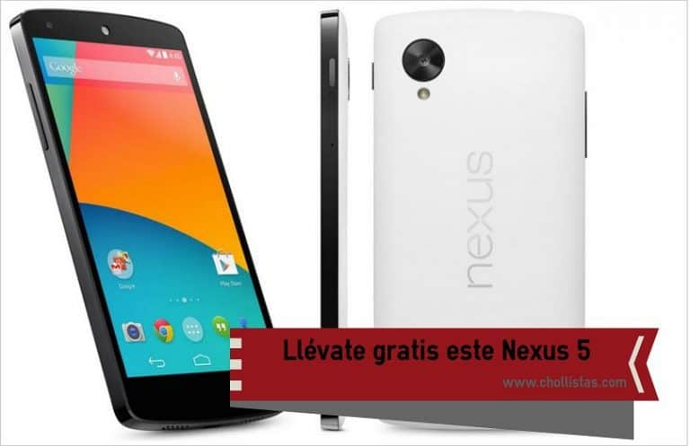 Sorteo de un LG Nexus 5 ¡Gratis!