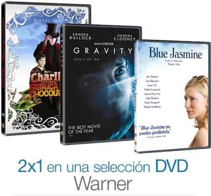 Oferta: 2x1 en películas DVD de Warner