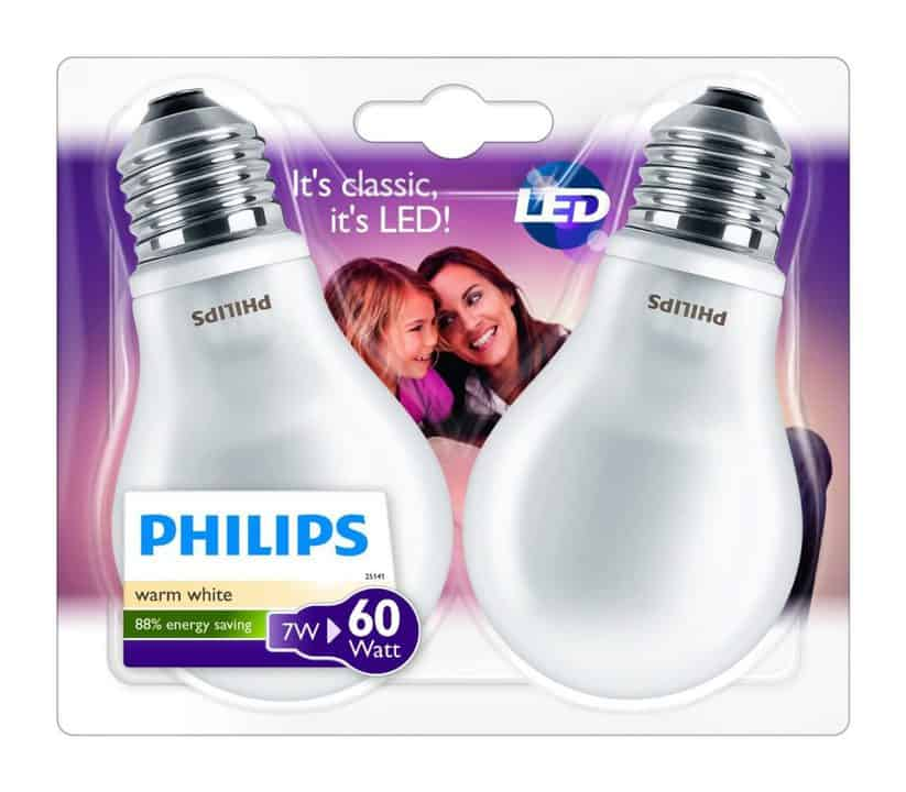 Oferta bombillas LED Philips pack por 9 euros (40% DTO.)