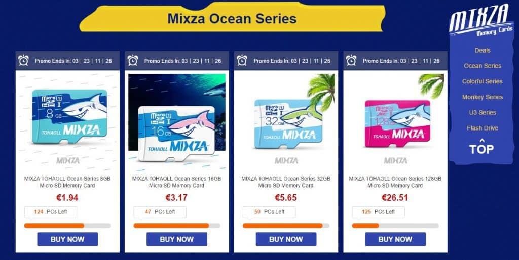 💾 Chollo tarjetas SD Mixza por menos de 2 euros gastos de envío incluidos