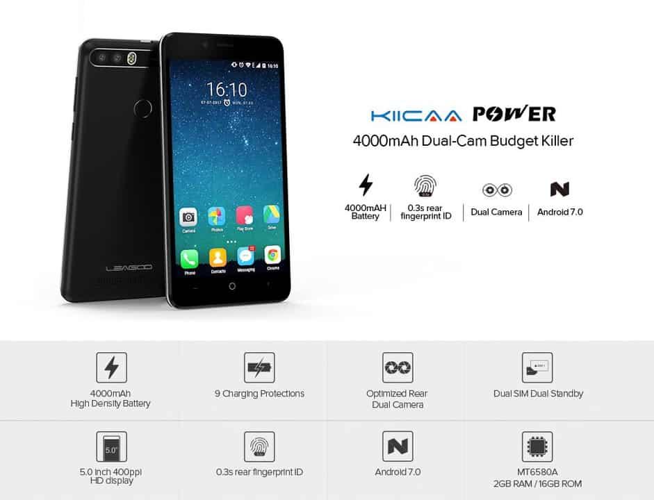 Chollazo smartphone Leagoo Kiicaa Power por 46 euros (Cupón Descuento)