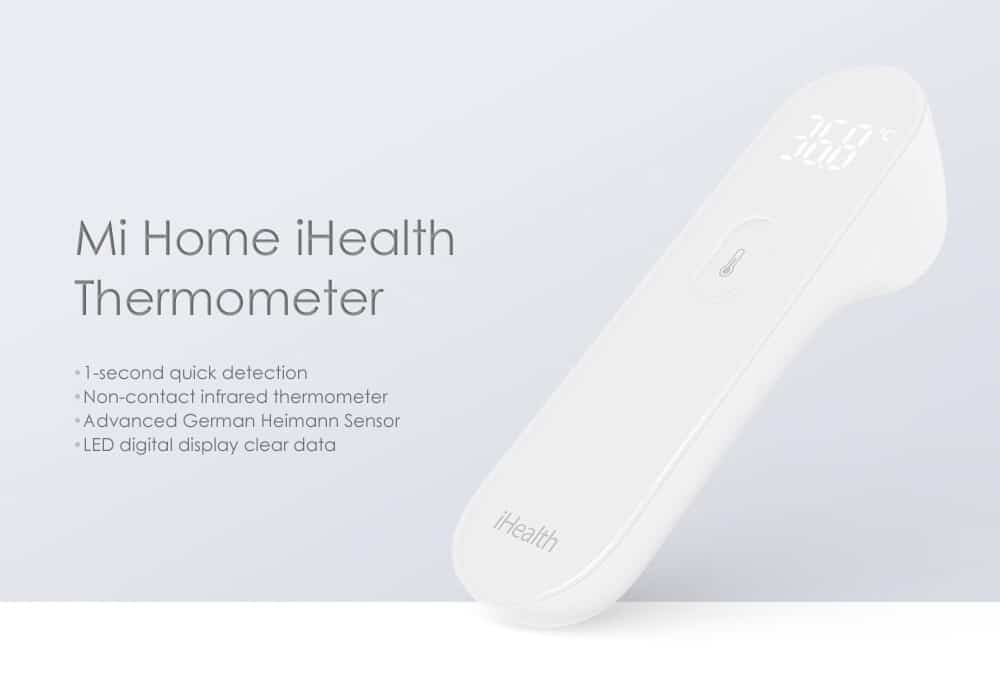 Oferta termómetro por infrarrojos Xiaomi Mi Home iHealth por 17 euros (Cupón Descuento)