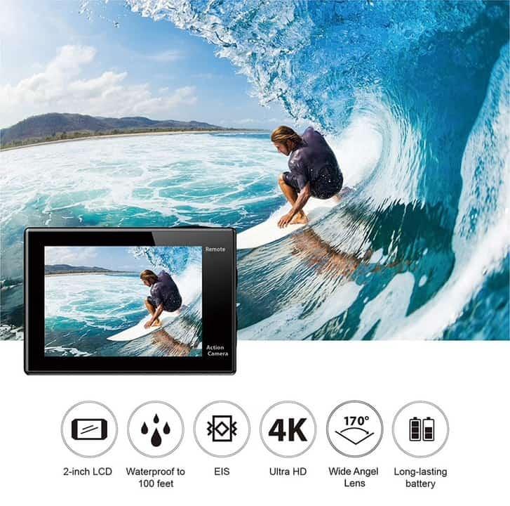 Oferta cámara deportiva EKEN H9R 4K por 37 euros (Oferta FLASH)