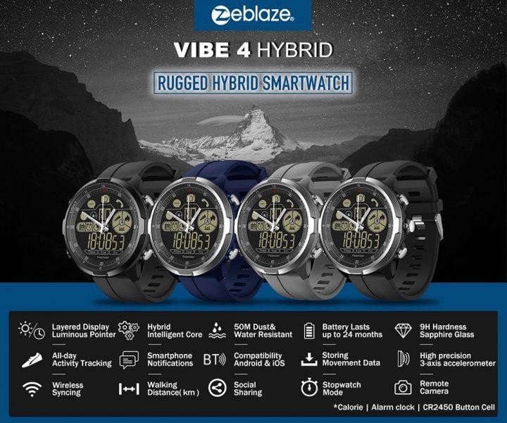 Chollo Smartwatch Zeblaze Vibe 4 HYBRID por 21 euros (Cupón Descuento)