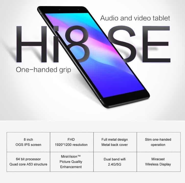 Chollo tablet Chuwi Hi8 SE por 86 euros (Cupón Descuento)