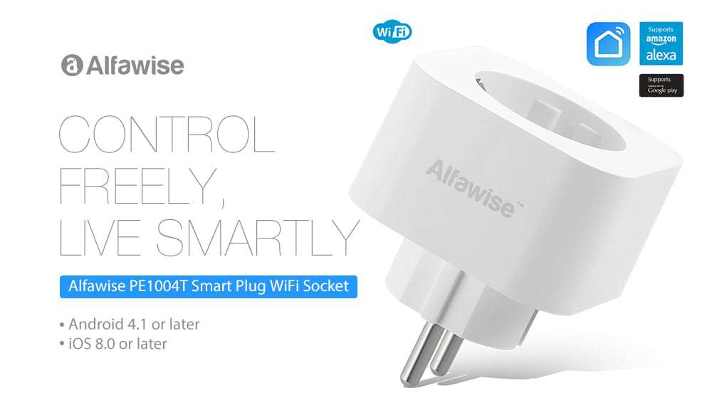 Chollo enchufe inteligente Alfawise compatible con Alexa por 8 euros (Oferta FLASH)