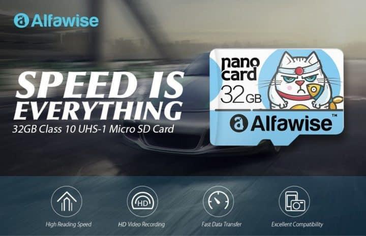 Chollo tarjeta MicroSD Alfawise de 32Gb por 3 euros (Oferta FLASH)