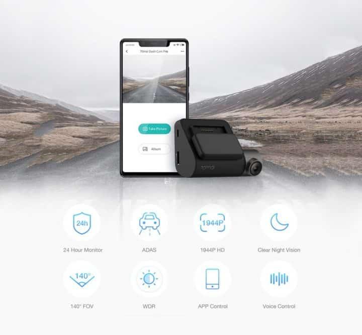 Xiaomi 70Mai Dash Cam Pro comprar barato al precio minimo de oferta con cupón descuento. Con envío GRATIS Libre de aduanas para España.