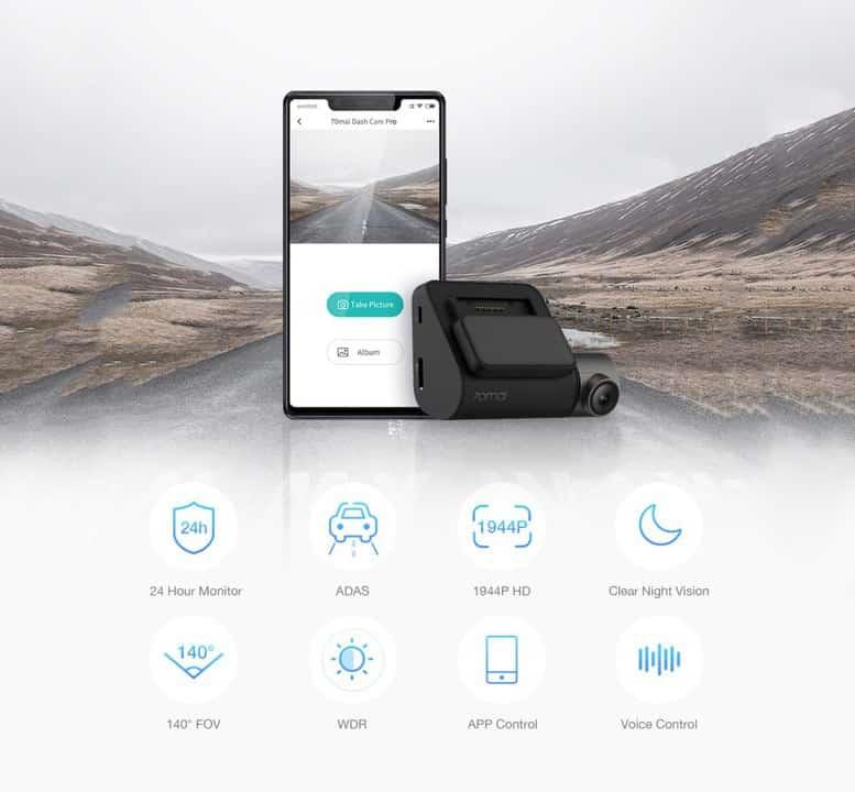 Xiaomi 70Mai Dash Cam Pro de oferta por 39 euros (Cupón Descuento)