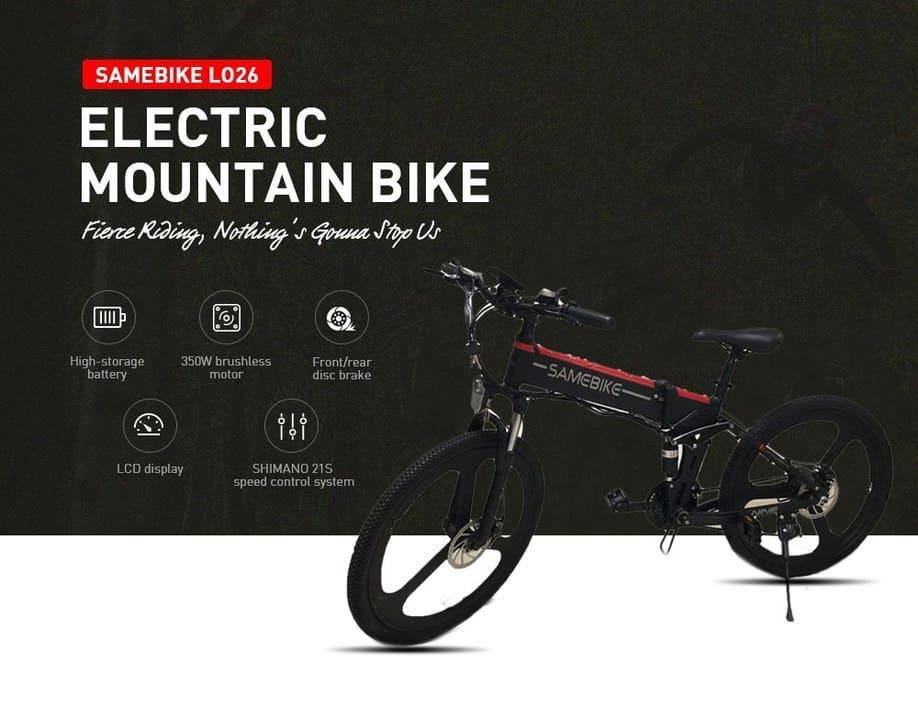 Oferta Bicicleta eléctrica de montaña Samebike LO26 por 710 euros (Oferta FLASH)