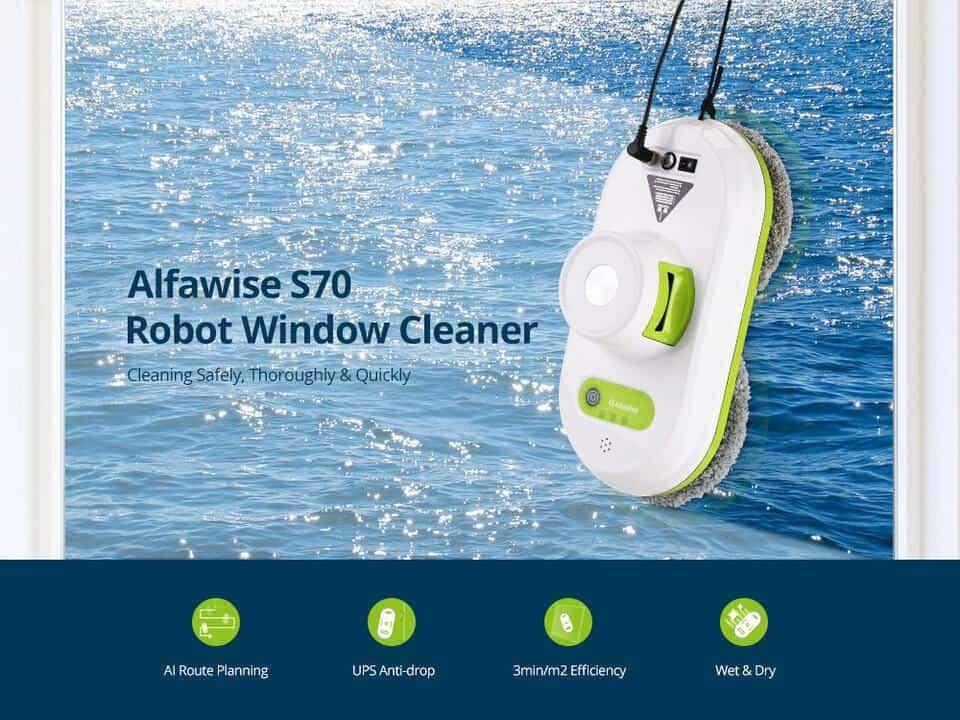 Oferta Robot limpiador de ventanas Alfawise S70 por 112 euros (Oferta FLASH)