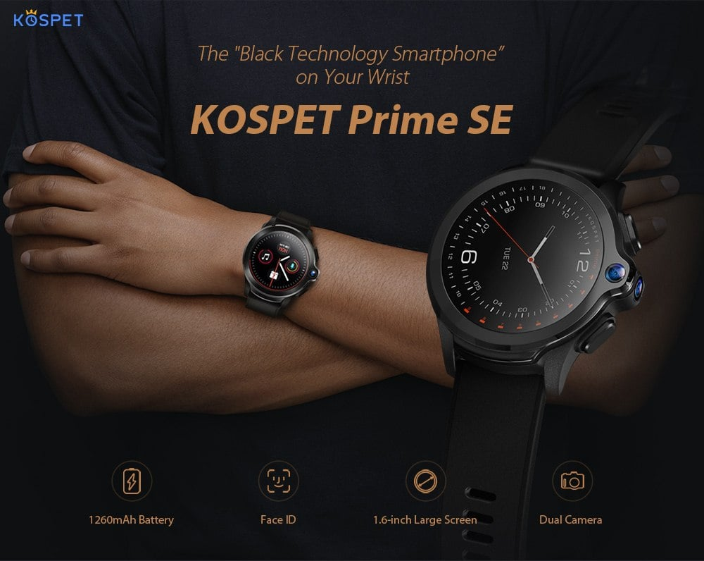 Oferta reloj inteligente KOSPET Prime SE 4G por 91 euros (Oferta FLASH)