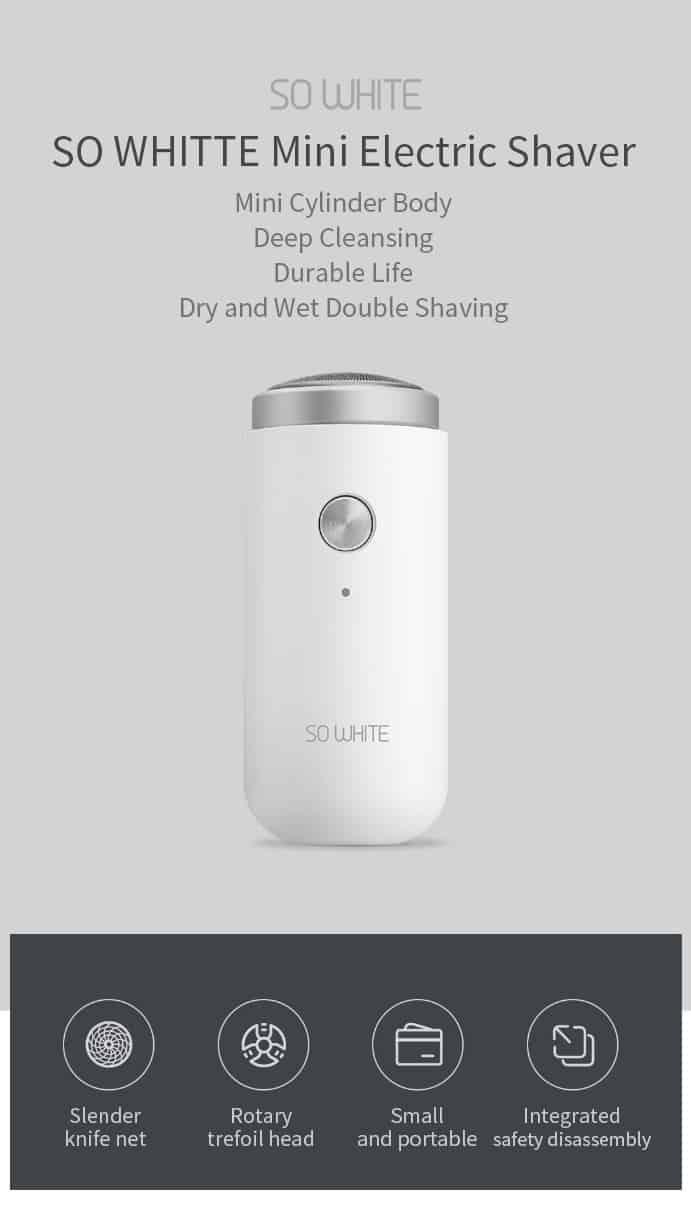 Afeitadora eléctrica Xiaomi SOOCAS SO WHITE ED1 de oferta por 13 euros (Cupón Descuento)