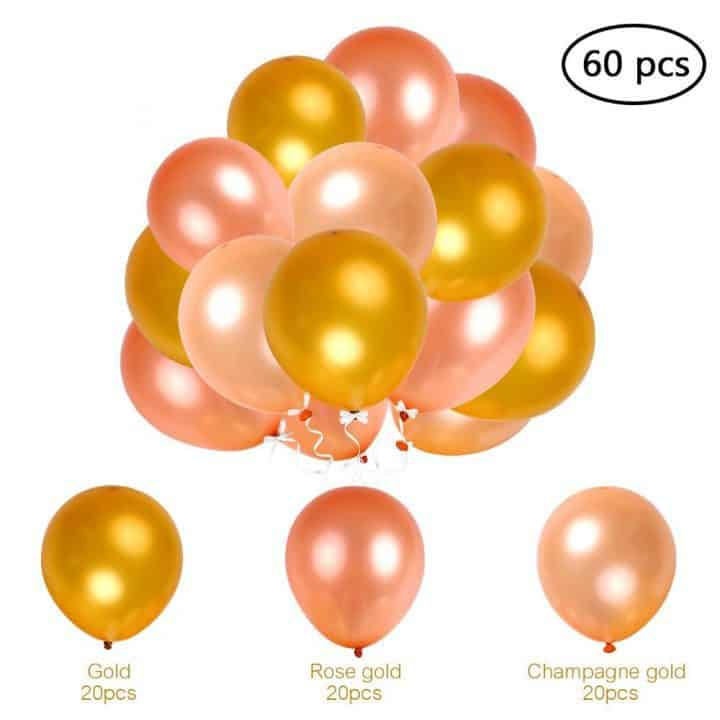 Oferta 60 globos de fiesta hinchables Esonmus por 6,99 euros (Cupón Descuento)