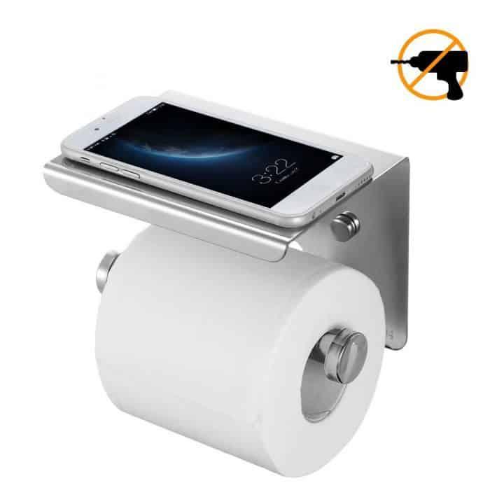 Oferta Porta Papel de baño sin taladros de acero inoxidable por 9 euros (Cupón Descuento)