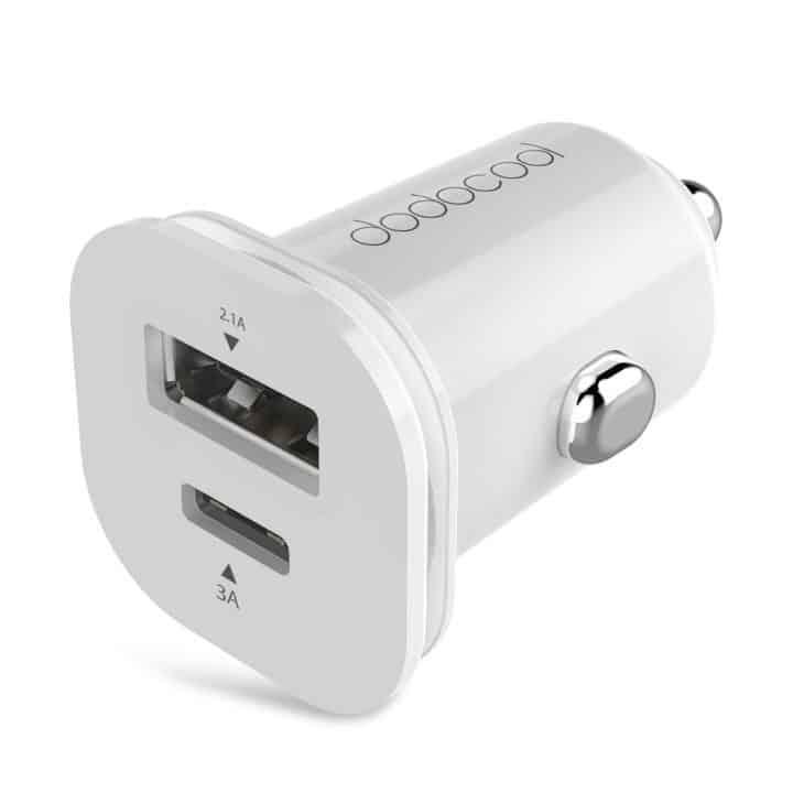 Oferta cargador coche USB dual dodocool por 6,99 euros (Cupón Descuento)