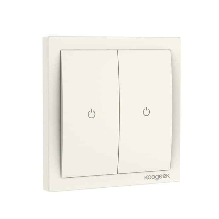 Oferta interruptor inteligente doble Koogeek Home Kit por 35,99 euros (Cupón Descuento)