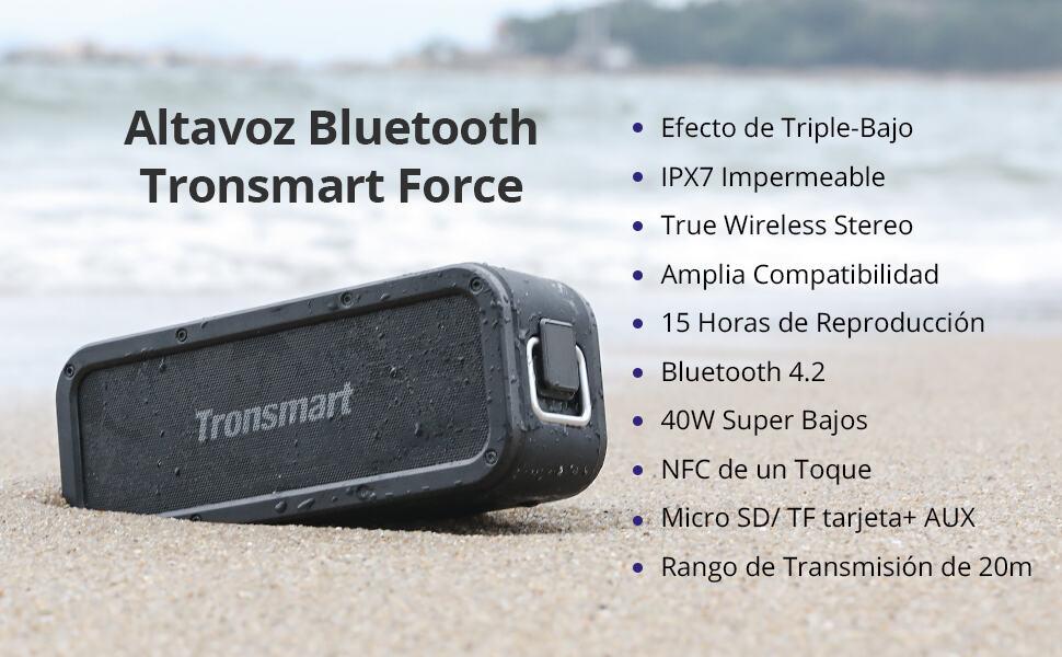 Tronsmart Force SoundPulse 40W por 42 euros desde España (Cupón Descuento)