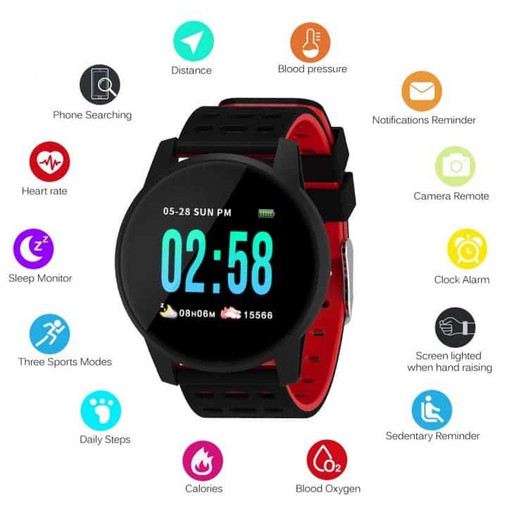 Oferta reloj inteligente impermeable Lixada por 15 euros (Cupón Descuento 50%)
