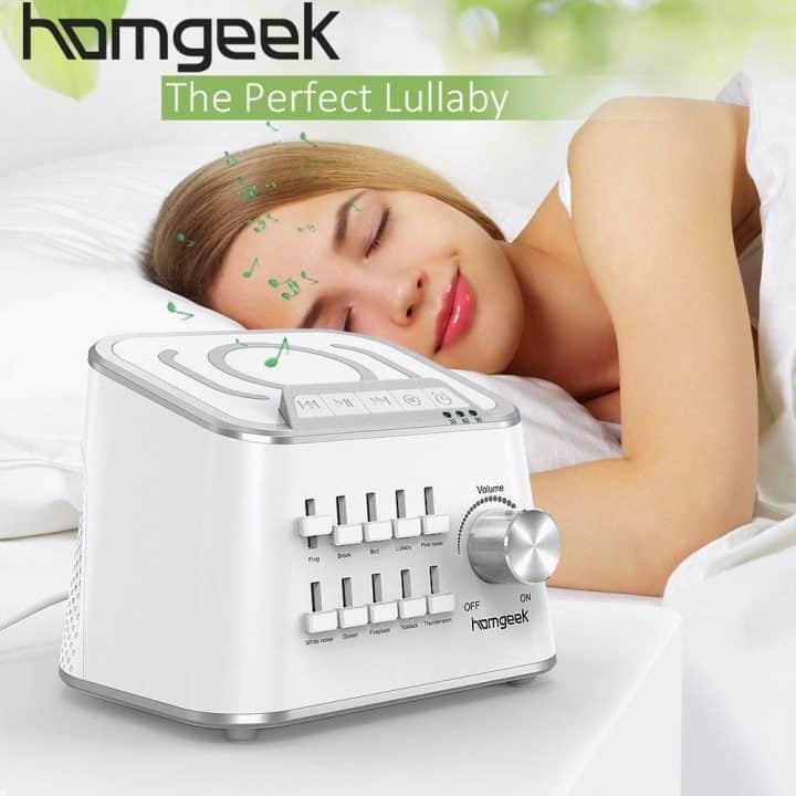 Oferta Máquina de sonidos naturales para dormir Homgeek por 25,99 euros (Cupón Descuento)