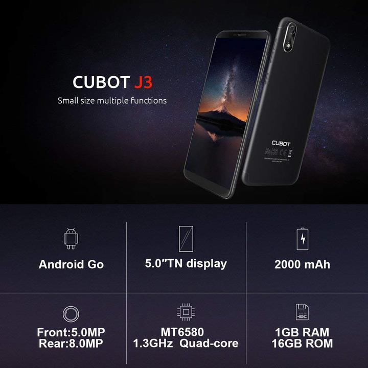 Chollo móvil Cubot J3 por 59,99 euros desde España (Cupón Descuento)