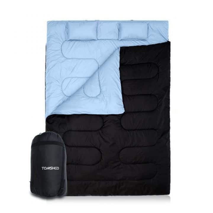 Oferta Saco de dormir doble de TOMSHOO por 31,99 euros (Cupón Descuento)
