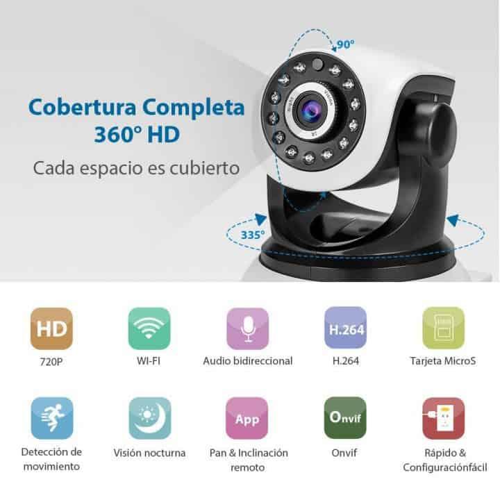 Chollazo Cámara Seguridad IP Wifi Bagotte por 23 euros (Cupón Descuento)