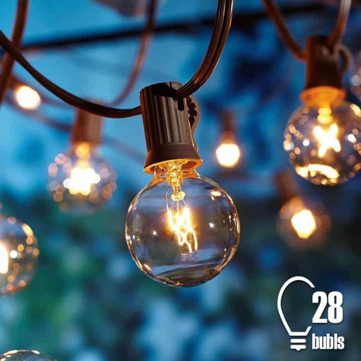 Chollo Tira de 25 bombillas de jardín Tomshine por 16 euros (Cupón Descuento)