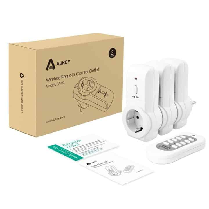 Oferta Enchufes Inteligentes con control remoto AUKEY por 27,99 euros (Oferta FLASH)