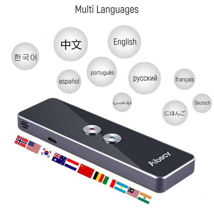 Oferta Traductor en tiempo real Aibeci con 40 idiomas por 32,99 euros (Oferta FLASH)