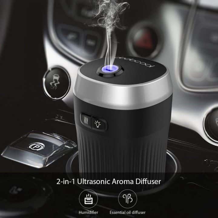 Oferta ambientador humidificador Dodocool para coche por 11,99 euros (Cupón descuento)