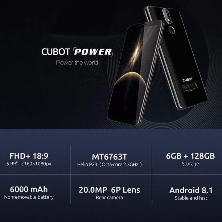 Chollo Cubot Power 128GB por 229 euros (Cupón Descuento)