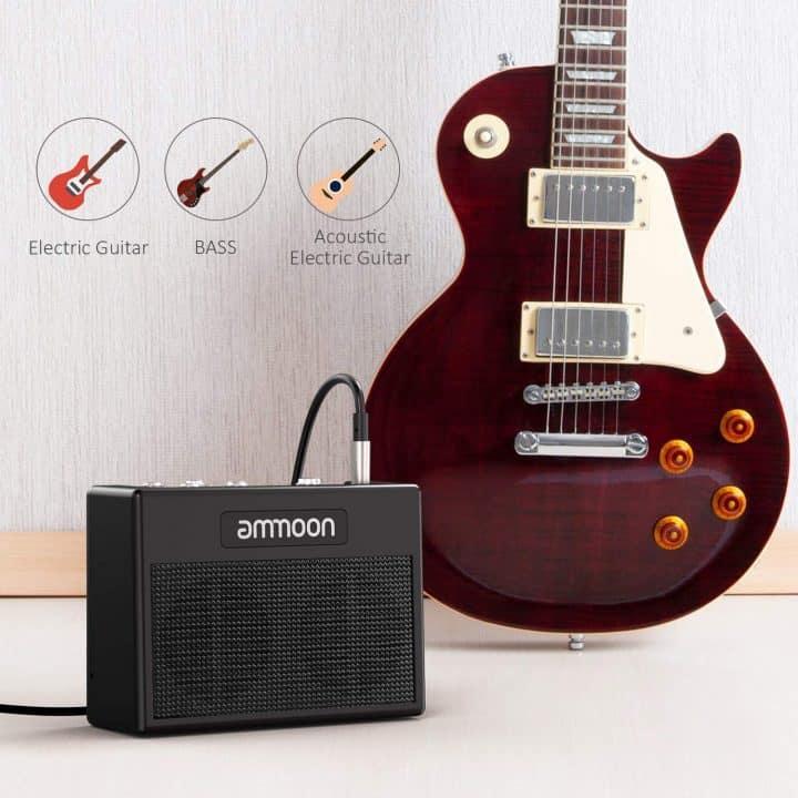 Chollazo Amplificador para guitarra eléctrica ammoon por 29,99 euros (Cupón Descuento)