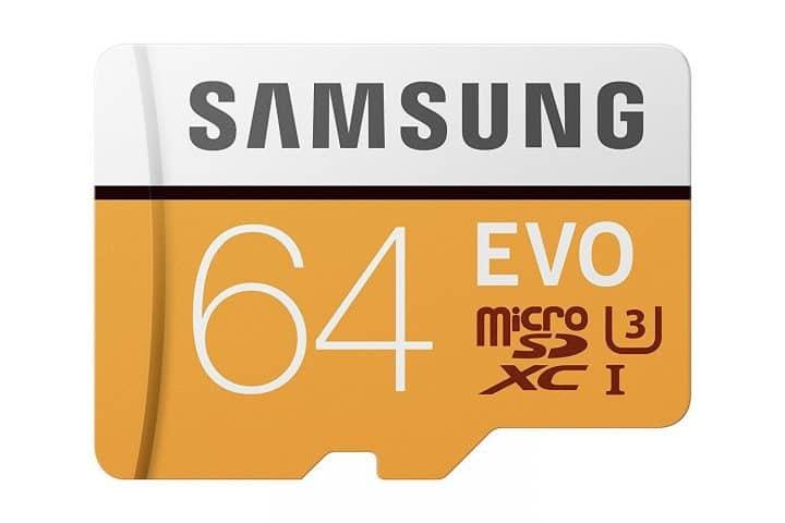 Oferta MicroSD Samsung EVO clase 10 64GB por 13 euros (Cupón Descuento)