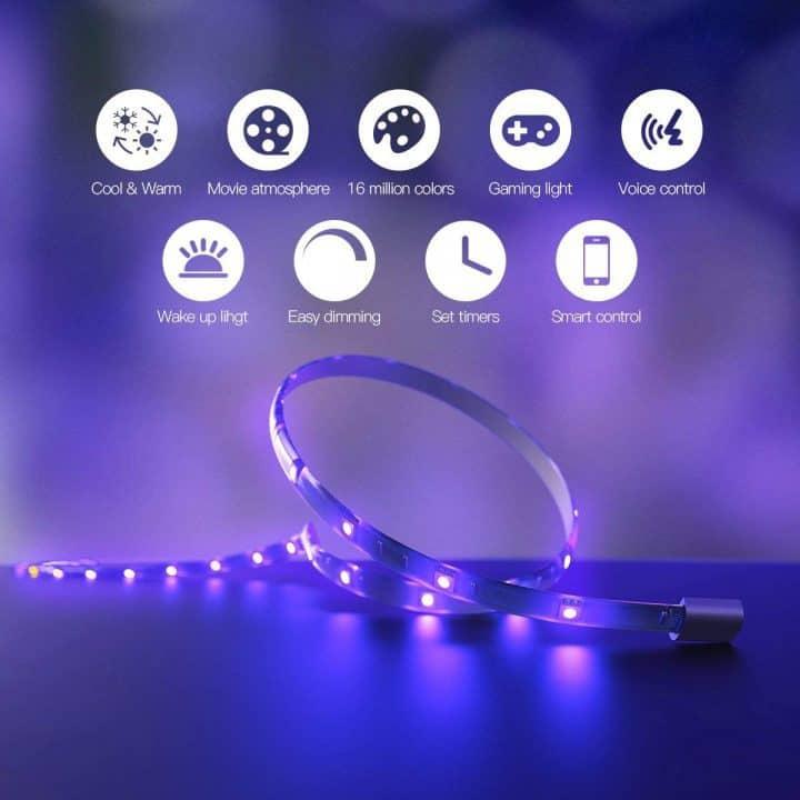 Oferta Tira luces LED inteligente Koogeek por 27,99 euros desde España (Cupón Descuento)