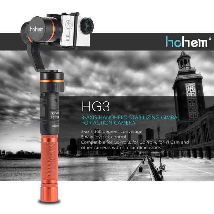 Oferta Estabilizador Hohem HG3 para cámaras deportivas por 110 euros (Oferta FLASH)