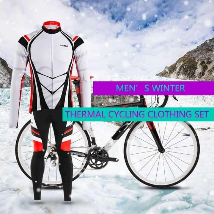 Chollo maillot y pantalones térmicos de invierno para ciclismo Lixada por 27,99 euros (Oferta FLASH)