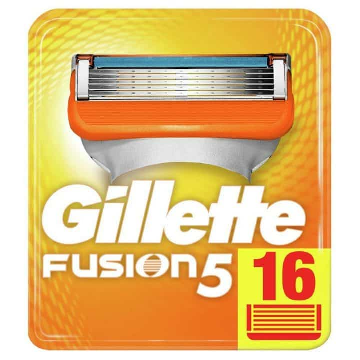 Oferta 16 recambios Gillette Fusion5 por 35,99 euros (20% descuento)